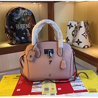 LV Women Leather Shoulder Bag Satchel Tote Bag Handbag  Shopping Leather Tote Crossbody Satchel Shouder Bag