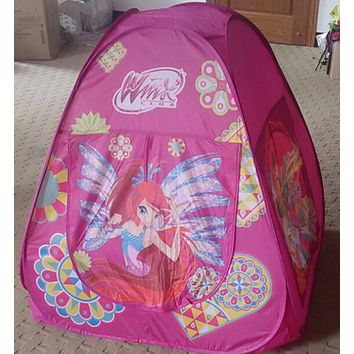 Super Game House/Princess Triangle Tent with Flower Fairy Pattern Kids Tent