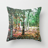 :: Walk in the Woods :: Throw Pillow by GaleStorm Artworks