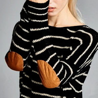 Stadium Stripe Sweater (Black)