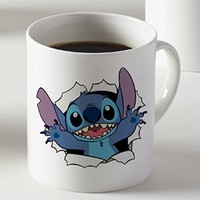 Cute Face Surprise Lilo and Stitch Mug Two Sides