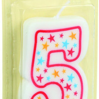 Cake Mate Birthday Party Candle - Numeral - 5 - 3 In - 1 Count - Case Of 6