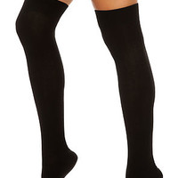 The Textured Cable Sock in Black