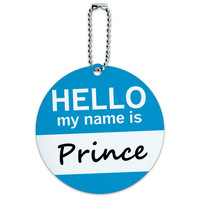 Prince Hello My Name Is Round ID Card Luggage Tag