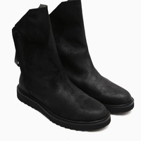 Mens Dark Shadow Double Zip Gothic Boots at Fabrixquare