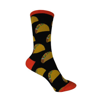 Tacos Crew Socks in Black