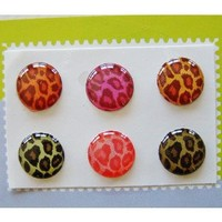 """Amazon.com: """"Home"""" Button Sticker for iphone/ipad/itouch, Leopard, 6 Stickers Xtra-Funky Exclusive Home Button Stickers 6-in-1 pack For ?: Cell Phones & Accessories"""