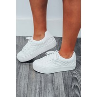 Kick It With Me Sneakers: White