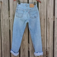 Vintage LEVI'S 501 Jeans - High Waisted Jeans - Size Levi 26 x 29 or US 1 / 2