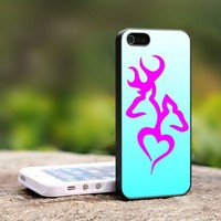 Browning Deer Hunting Girly - For iPhone 4,4S Black Case Cover
