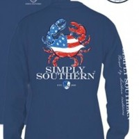 Simply Southern Crab Long Sleeve- Blue