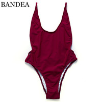 BANDEA 2017 brazilian Swimwear solid Bikini Brazilian Swimsuit double layer Bathing Suit Beachwear one piece Women Swimwear