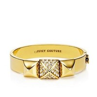 Juicy Couture | Wide Pave Stud Hinged Bangle