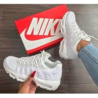 Nike Air Max 95 Classic Popular Women Men Casual Breathable Running Sneakers Sport Shoes White I/A