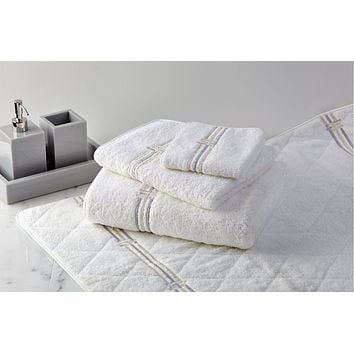 Panama Embroidered Bath Towels by Dea Linens