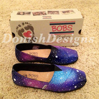 Custom Painted Galaxy Bobs Shoes by DonishDesigns on Etsy
