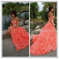 Stunning Ball Gown Sweetheart High-low Asymmetrical Prom Dress