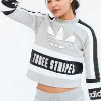 adidas Originals 80s Moto Cropped Pullover Sweatshirt - Urban Outfitters