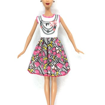 NK 2016 Newest Doll Dress Beautiful Handmade Party ClothesTop Fashion Dress For Barbie Noble Doll Best Child Girls'Gift 028A