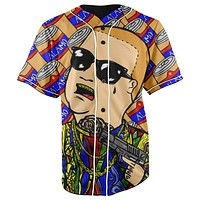 Bobby Trill King Of The Hill Button Up Baseball Jersey
