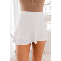 Just Dance Textured Skort (White)