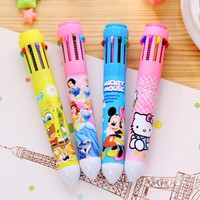 10 Colors Cute Cartoon Stationery Hello Kitty  Ballpoint Pen Office School Supplies Pens for gifts