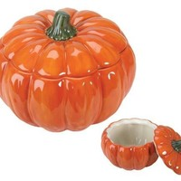 Ceramic Pumpkin Lifelike Soup Bowl 3 Cups 6W