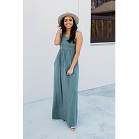 Modestly Posed Racerback Maxi (Sage)
