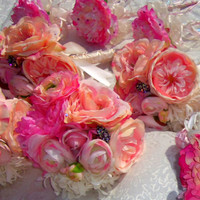 SALE- Brooch Bouqet Shabby Chic 26 Piece Wedding Package- Expo Show Demo Package
