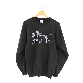 Hollywood, California Black Graphic Crewneck Sweatshirt