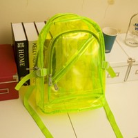 Casual College Back To School Hot Deal On Sale Comfort Stylish Korean Cool Transparent Crystal Waterproof Summer Backpack [6582642567]