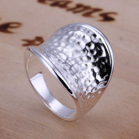 Silver Plated Thumb Ring