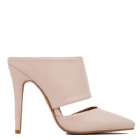 Claire Pointed Toe Mule Nude Heels