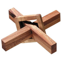 The Perplexing X in a Box Wooden Puzzle - Puzzle Haven