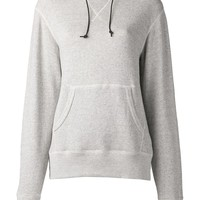 R13 basic hooded sweatshirt
