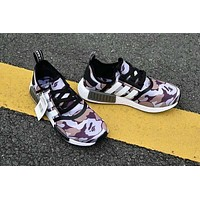 NMD x Bape Purple Camo