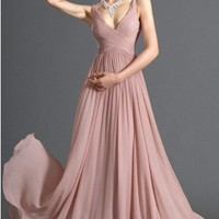 Cheap Unique Spaghetti Neckline Zippered Chiffon Prom/Event Dress - Cheap Prom/Event Dresses Wholesale and Retail Online Store