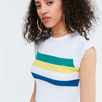 BDG Rainbow Cropped Sweater Tee - Urban Outfitters