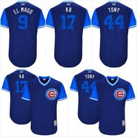 """Hot Men's 17 Kris Bryant """"KB"""" 44 Anthony Rizzo 9 Javier Baez Chicago Cubs 2017 Little League World Series Players Weekend Jerseys"""