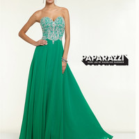 Sweetheart Beaded Flowing A-line Paparazzi Prom Dress By Mori Lee 97127