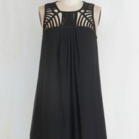 LBD Mid-length Sleeveless Shift Party Prep Dress by ModCloth