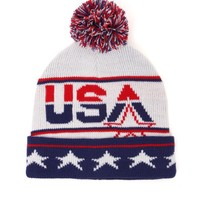 On The Byas USA Dream Beanie - Mens Hats - Red/White/Blue - One