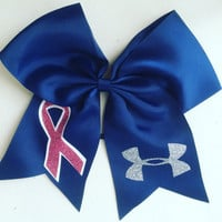 Navy Under Armour Awareness Hair Bow