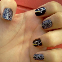 PINK FLOYD only nail decals Dark Side of the Moon Nail Decals