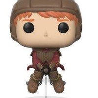 Funko Pop Movies Harry Potter Ron on Broom Figure