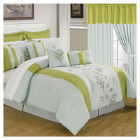 You should see this Maria 25 Piece Comforter Set in Aqua & Lime on Daily Sales!