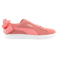 Puma Suede Bow Shell Pink 367317 01 Womens Casual Sneakers
