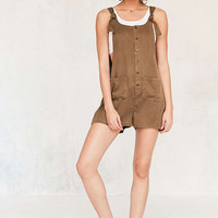 BDG Andy Button-Front Tie-Strap Dungarees - Urban Outfitters
