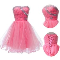 4Color New Formal Homecoming Prom Ball Gown Cocktail Short Party Evening Dresses