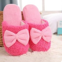 Hot Sale Autumn Winter Warm Lovely Velvet Soft Plush Slipper